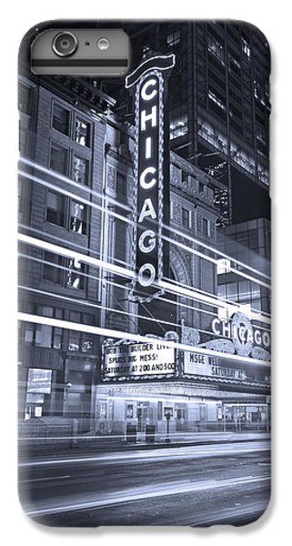Chicago Theater Marquee B And W IPhone 6 Plus Case by Steve Gadomski