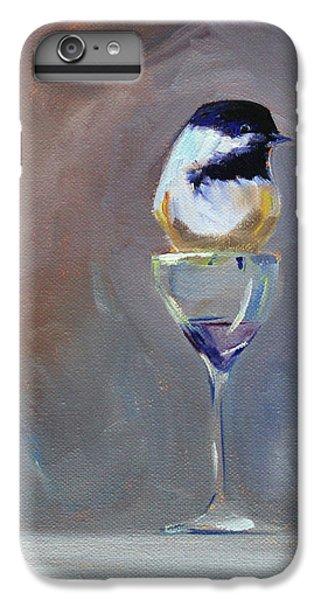 Chickadee Wine IPhone 6 Plus Case by Nancy Merkle