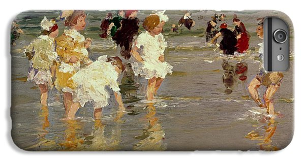 Impressionism iPhone 6 Plus Case - Children On The Beach by Edward Henry Potthast