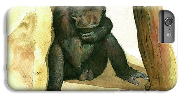 Chimp IPhone 6 Plus Case by Juan Bosco