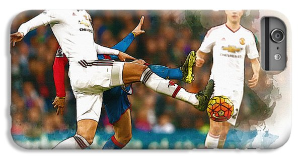 Wayne Rooney iPhone 6 Plus Case - Chris Smalling  In Action  by Don Kuing
