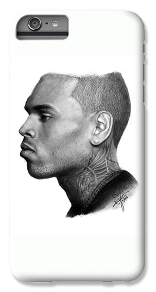 iPhone 6 Plus Case - Chris Brown Drawing By Sofia Furniel by Jul V