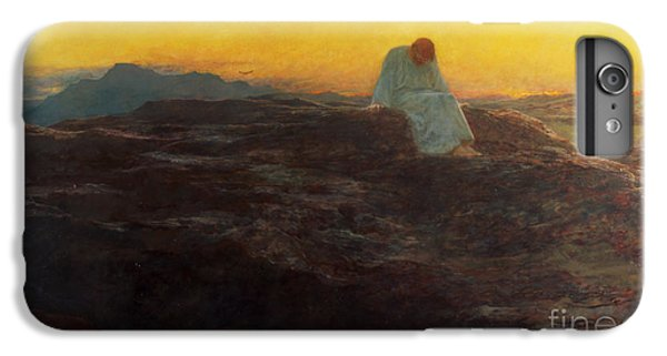 Christ iPhone 6 Plus Case - Christ In The Wilderness by Briton Riviere