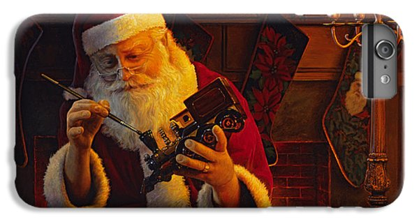 Train iPhone 6 Plus Case - Christmas Eve Touch Up by Greg Olsen