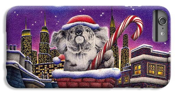 Christmas Koala In Chimney IPhone 6 Plus Case by Remrov