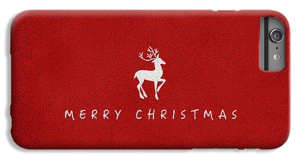 Deer iPhone 6 Plus Case - Christmas Series Christmas Deer by Kathleen Wong