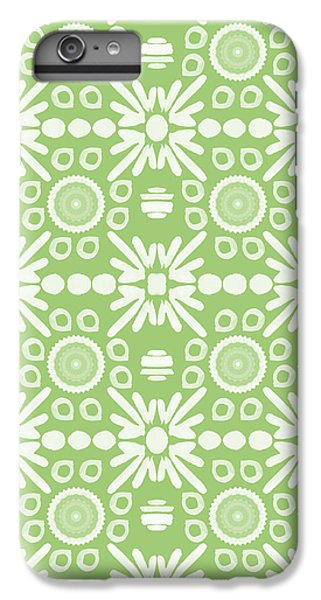 Repeat iPhone 6 Plus Case - Cilantro- Green And White Art By Linda Woods by Linda Woods