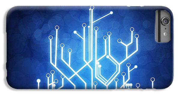 Circuit Board Technology IPhone 6 Plus Case by Setsiri Silapasuwanchai