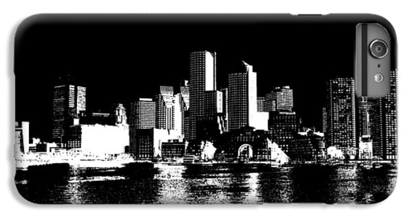 City Of Boston Skyline   IPhone 6 Plus Case by Enki Art