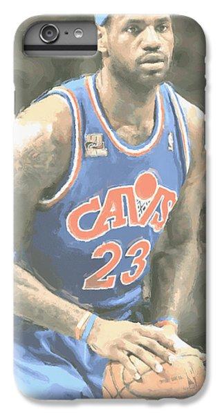 Cleveland Cavaliers Lebron James 1 IPhone 6 Plus Case by Joe Hamilton