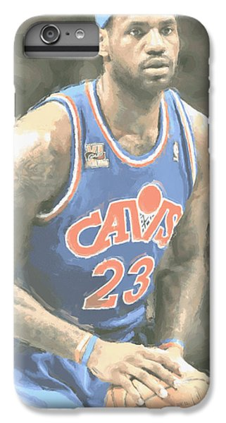 Cleveland Cavaliers Lebron James 1 IPhone 6 Plus Case by Joe Hamilton