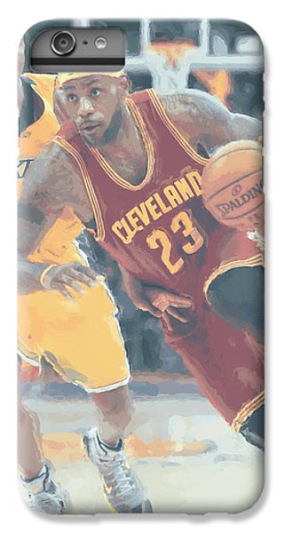 Cleveland Cavaliers Lebron James 3 IPhone 6 Plus Case by Joe Hamilton
