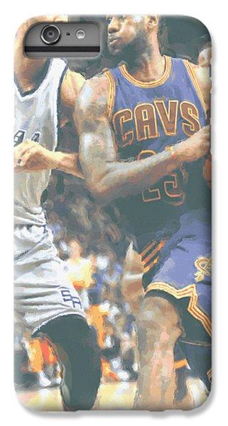 Cleveland Cavaliers Lebron James 4 IPhone 6 Plus Case by Joe Hamilton