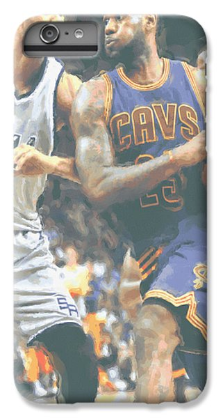 Cleveland Cavaliers Lebron James 4 IPhone 6 Plus Case by Joe Hamilton