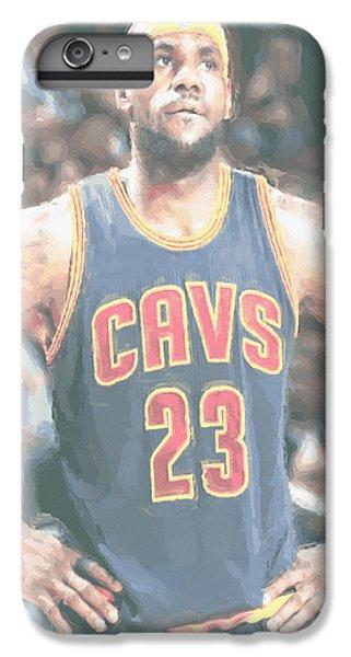 Cleveland Cavaliers Lebron James 5 IPhone 6 Plus Case by Joe Hamilton