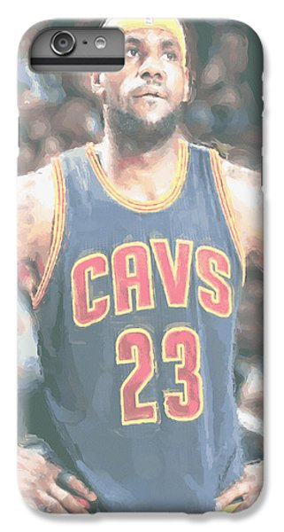 Cleveland Cavaliers Lebron James 5 IPhone 6 Plus Case by Joe Hamilton