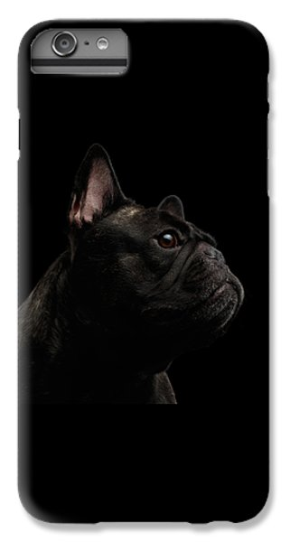 Dog iPhone 6 Plus Case - Close-up French Bulldog Dog Like Monster In Profile View Isolated by Sergey Taran