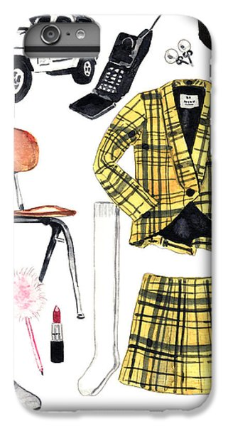 Clueless Movie Collage 90's Fashion IPhone 6 Plus Case by Laura Row