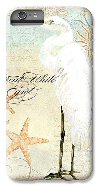 Coastal Waterways - Great White Egret 3 IPhone 6 Plus Case by Audrey Jeanne Roberts