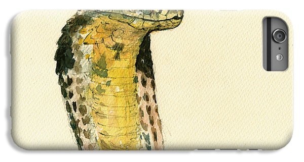 Garden Snake iPhone 6 Plus Case - Cobra Snake Poster by Juan  Bosco