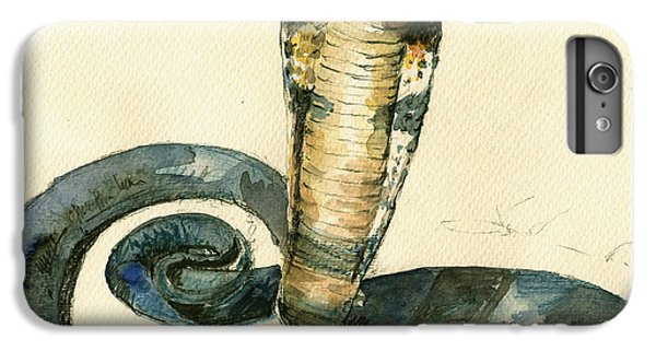 Cobra Snake Watercolor Painting Art Wall IPhone 6 Plus Case by Juan  Bosco