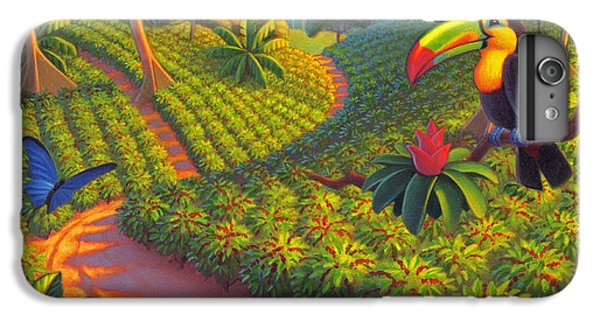 Toucan iPhone 6 Plus Case - Coffee Plantation by Robin Moline