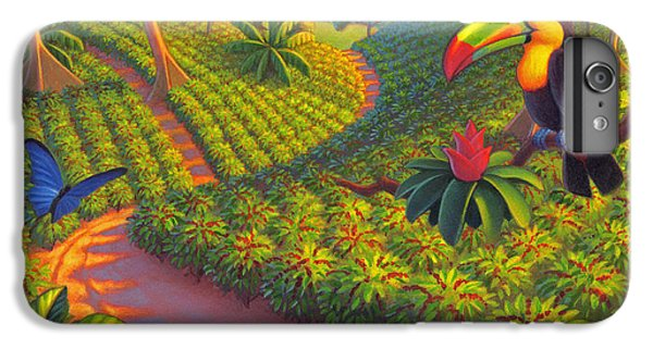 Coffee Plantation IPhone 6 Plus Case by Robin Moline