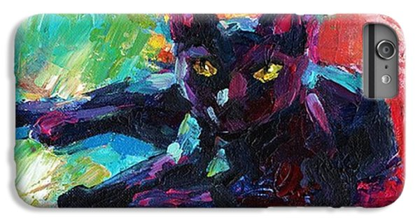 Colorful Black Cat Painting By Svetlana IPhone 6 Plus Case