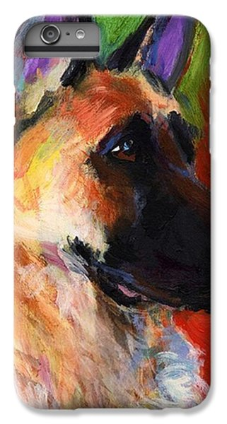 Colorful German Shepherd Painting By IPhone 6 Plus Case