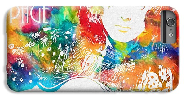 Rock Music Jimmy Page iPhone 6 Plus Case - Colorful Jimmy Page by Dan Sproul