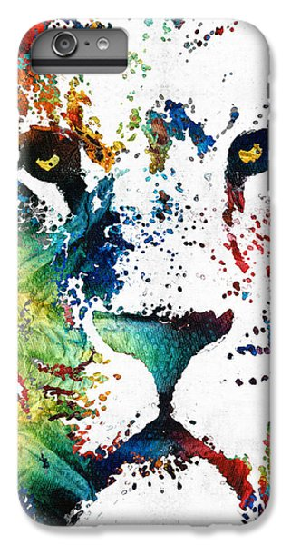 Colorful Lion Art By Sharon Cummings IPhone 6 Plus Case by Sharon Cummings