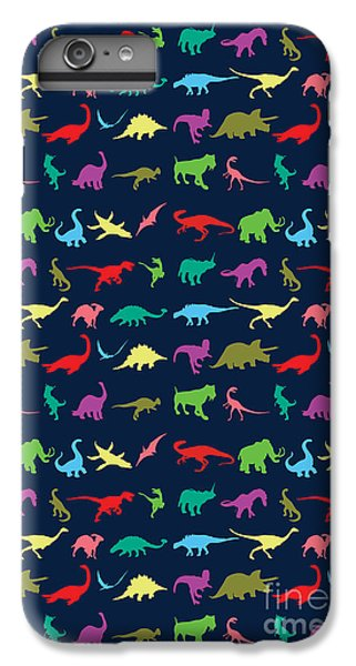 Colorful Mini Dinosaur IPhone 6 Plus Case by Naviblue