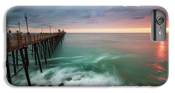 Pacific Ocean iPhone 6 Plus Case - Colorful Sunset At The Oceanside Pier by Larry Marshall