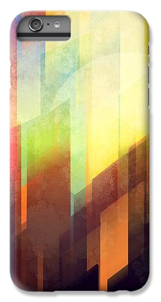City Sunset iPhone 6 Plus Case - Colorful Urban Design by Thubakabra
