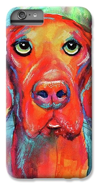 Colorful iPhone 6 Plus Case - Colorful Vista Dog Watercolor And Mixed by Svetlana Novikova