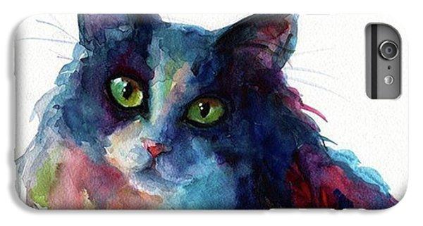iPhone 6 Plus Case - Colorful Watercolor Cat By Svetlana by Svetlana Novikova