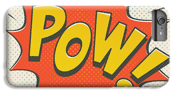 Spider iPhone 6 Plus Case - Comic Pow On Off White by Mitch Frey