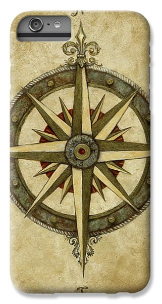 Rose iPhone 6 Plus Case - Compass Rose by Judy Merrell