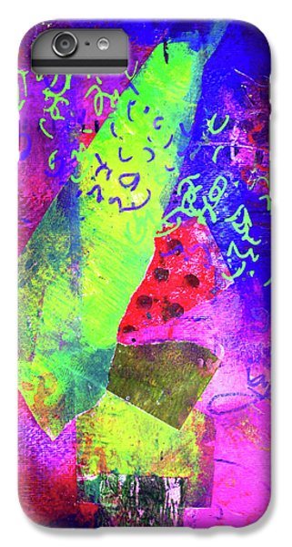 IPhone 6 Plus Case featuring the mixed media Confetti by Nancy Merkle