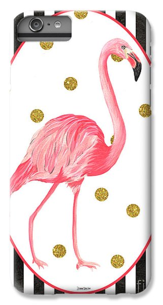 Contemporary Flamingos 2 IPhone 6 Plus Case by Debbie DeWitt