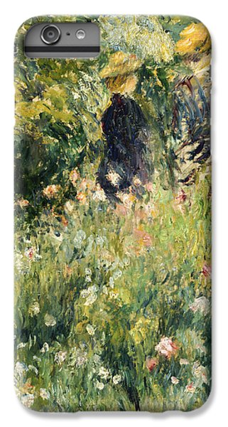 Garden Snake iPhone 6 Plus Case - Conversation In A Rose Garden by Pierre Auguste Renoir