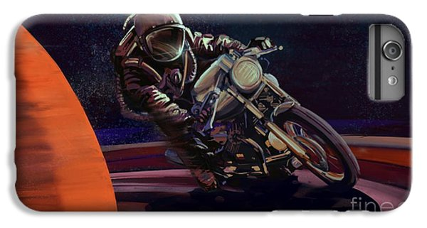 Motorcycle iPhone 6 Plus Case - Cosmic Cafe Racer by Sassan Filsoof