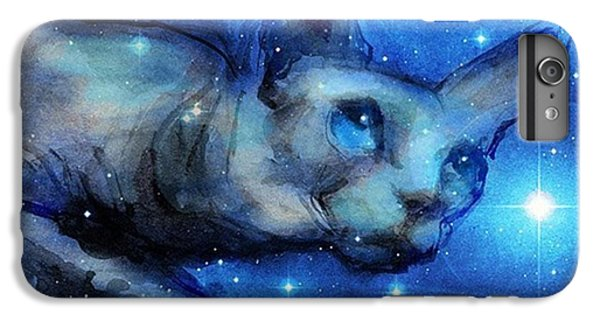 iPhone 6 Plus Case - Cosmic Sphynx Painting By Svetlana by Svetlana Novikova