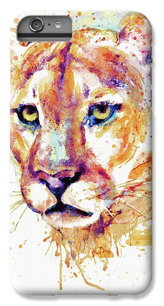 Lion Head iPhone 6 Plus Case - Cougar Head by Marian Voicu