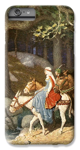 Country Folk Wending Their Way To The Tourney IPhone 6 Plus Case by Newell Convers Wyeth