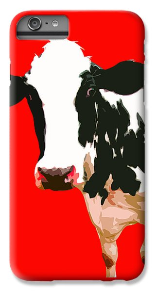 Cow iPhone 6 Plus Case - Cow In Red World by Peter Oconor
