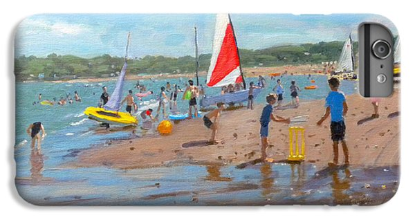 Cricket iPhone 6 Plus Case - Cricket And Red And White Sail by Andrew Macara