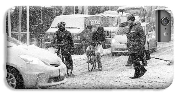 Crosswalk In Snow IPhone 6 Plus Case