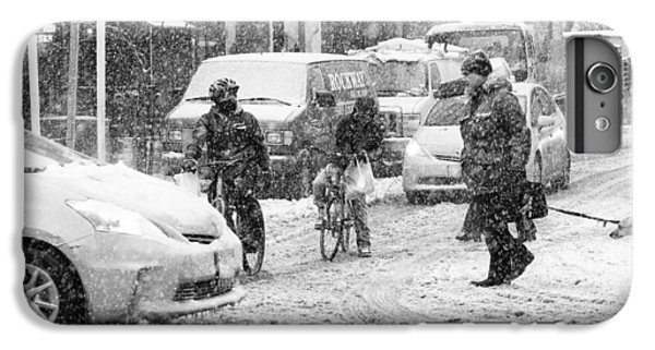Crosswalk In Snow IPhone 6 Plus Case by Dave Beckerman