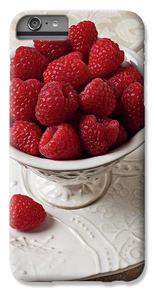 Cup Full Of Raspberries  IPhone 6 Plus Case by Garry Gay